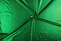 Luxury Elastic Snakeskin Foil Dance Fabric Material - EMERALD